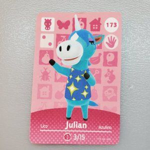 173 Julian Amiibo Card Animal Crossing Custom